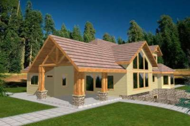 Traditional Exterior - Front Elevation Plan #117-337 - Houseplans.com