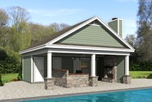 Dream House Plan - Country Exterior - Front Elevation Plan #932-236