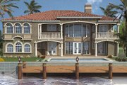 Mediterranean Style House Plan - 5 Beds 6.5 Baths 6116 Sq/Ft Plan #420-187
