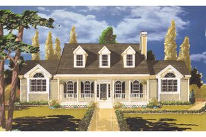 Dream House Plan - Country Exterior - Front Elevation Plan #3-130