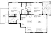 Craftsman Style House Plan - 2 Beds 2 Baths 838 Sq/Ft Plan #895-88 Floor Plan - Main Floor Plan