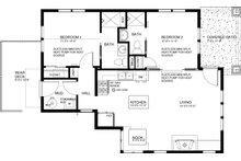 Craftsman Floor Plan - Main Floor Plan Plan #895-88