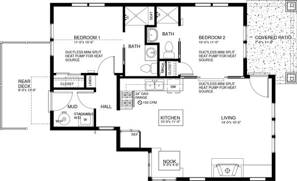 Craftsman Floor Plan - Main Floor Plan Plan #895-88