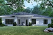 Mediterranean Style House Plan - 4 Beds 2 Baths 1649 Sq/Ft Plan #923-124 Exterior - Rear Elevation