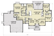 Craftsman Floor Plan - Main Floor Plan Plan #1070-38