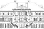 Classical Style House Plan - 6 Beds 6 Baths 9032 Sq/Ft Plan #119-217 Exterior - Rear Elevation