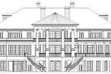 Classical Exterior - Rear Elevation Plan #119-217