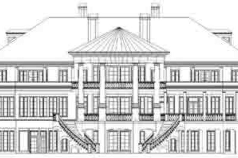 Classical Exterior - Rear Elevation Plan #119-217 - Houseplans.com