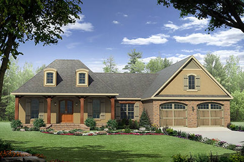 Dream House Plan - European Exterior - Front Elevation Plan #21-297