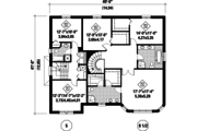 European Style House Plan - 7 Beds 4 Baths 5675 Sq/Ft Plan #25-4614 Floor Plan - Upper Floor Plan