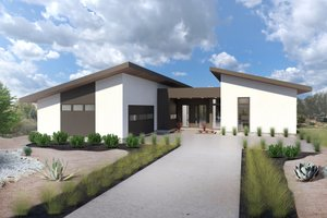 Contemporary Exterior - Front Elevation Plan #80-220