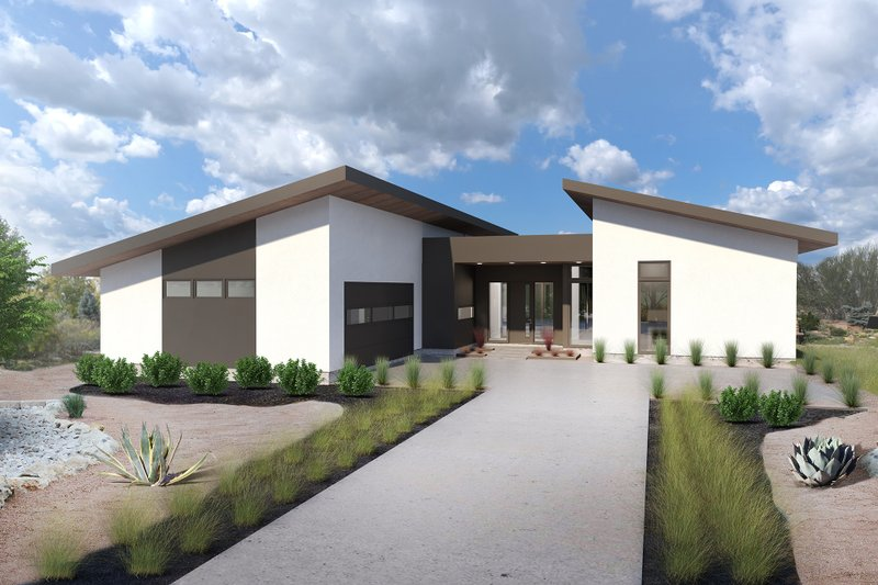 Contemporary Style House Plan - 3 Beds 2.5 Baths 2002 Sq/Ft Plan #80-220