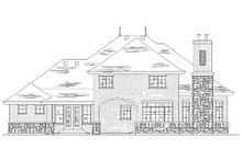 European Exterior - Rear Elevation Plan #5-467
