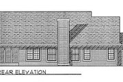 Traditional Style House Plan - 3 Beds 2 Baths 1806 Sq/Ft Plan #70-210 Exterior - Rear Elevation