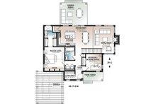 Contemporary Floor Plan - Main Floor Plan Plan #23-2727