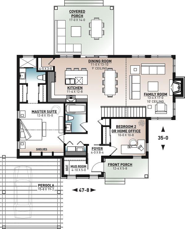 House Plan Design - Contemporary Floor Plan - Main Floor Plan #23-2727