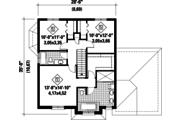 European Style House Plan - 3 Beds 2 Baths 1927 Sq/Ft Plan #25-4720 Floor Plan - Upper Floor Plan