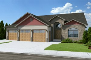 Traditional Exterior - Front Elevation Plan #126-237