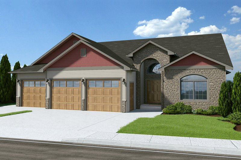 Traditional Style House Plan - 2 Beds 2 Baths 1559 Sq/Ft Plan #126-237 Exterior - Front Elevation