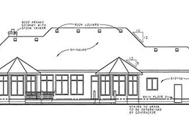 European Exterior - Rear Elevation Plan #20-1818 - Houseplans.com