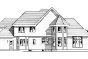 European Style House Plan - 4 Beds 2.5 Baths 2733 Sq/Ft Plan #316-114 Exterior - Rear Elevation