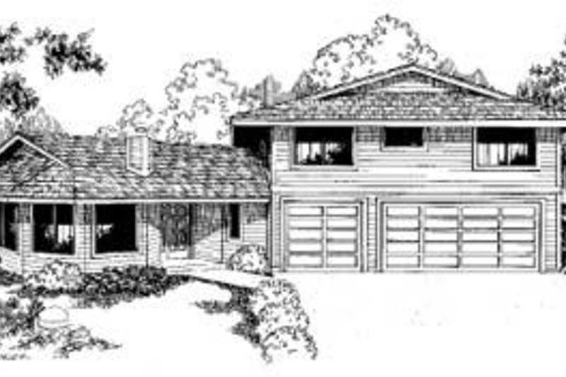 Traditional Exterior - Front Elevation Plan #60-344 - Houseplans.com