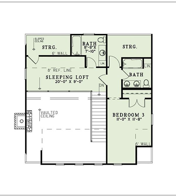 Country Floor Plan - Upper Floor Plan Plan #17-2558