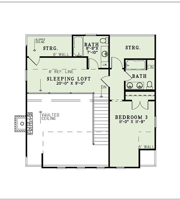 Country Floor Plan - Upper Floor Plan #17-2558