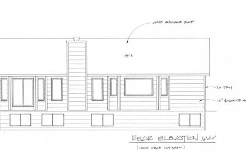 Traditional Exterior - Rear Elevation Plan #58-208 - Houseplans.com