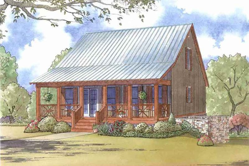 Country Style House Plan - 3 Beds 3.5 Baths 1661 Sq/Ft Plan #923-46 Exterior - Front Elevation