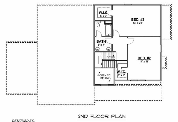 Country Floor Plan - Upper Floor Plan #1064-73