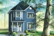 Traditional Style House Plan - 3 Beds 1.5 Baths 1340 Sq/Ft Plan #25-4044 Exterior - Front Elevation