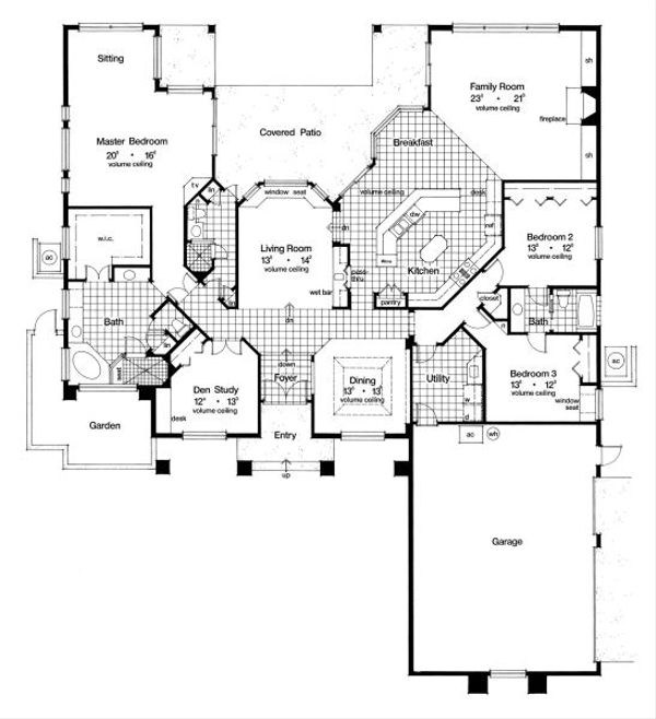 European Floor Plan - Main Floor Plan Plan #417-384