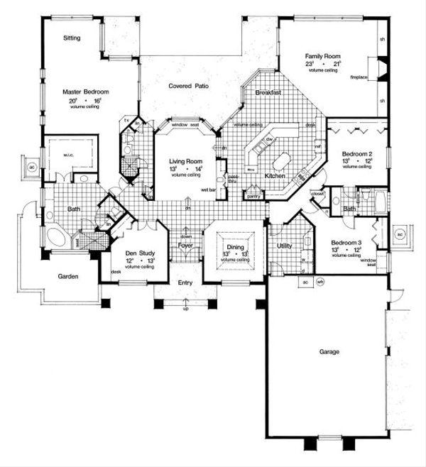 European Floor Plan - Main Floor Plan #417-384