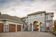 European Style House Plan - 4 Beds 4.5 Baths 4455 Sq/Ft Plan #48-650 Exterior - Front Elevation