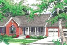 Ranch Exterior - Front Elevation Plan #406-168