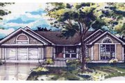 Ranch Style House Plan - 2 Beds 2 Baths 1338 Sq/Ft Plan #320-355 Exterior - Front Elevation