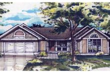 Ranch Exterior - Front Elevation Plan #320-355