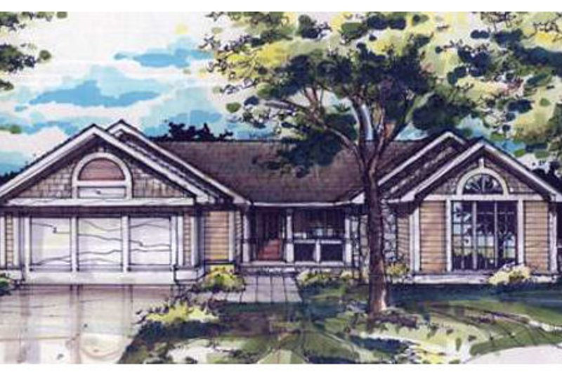 Dream House Plan - Ranch Exterior - Front Elevation Plan #320-355