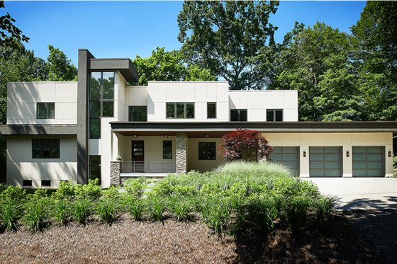 Dream House Plan - Contemporary Exterior - Front Elevation Plan #928-315