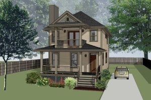 House Design - Southern Exterior - Front Elevation Plan #79-198