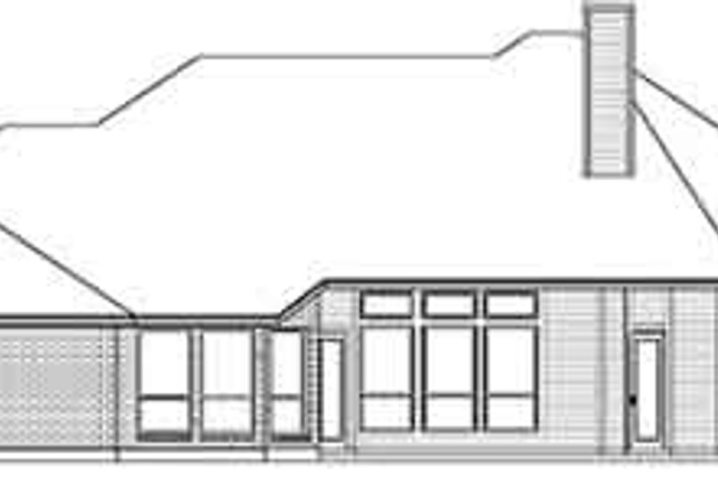Traditional Exterior - Rear Elevation Plan #84-238 - Houseplans.com