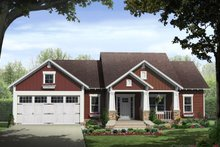 Architectural House Design - Craftsman Exterior - Front Elevation Plan #21-447