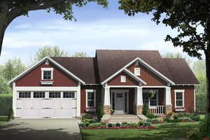 Craftsman Exterior - Front Elevation Plan #21-447