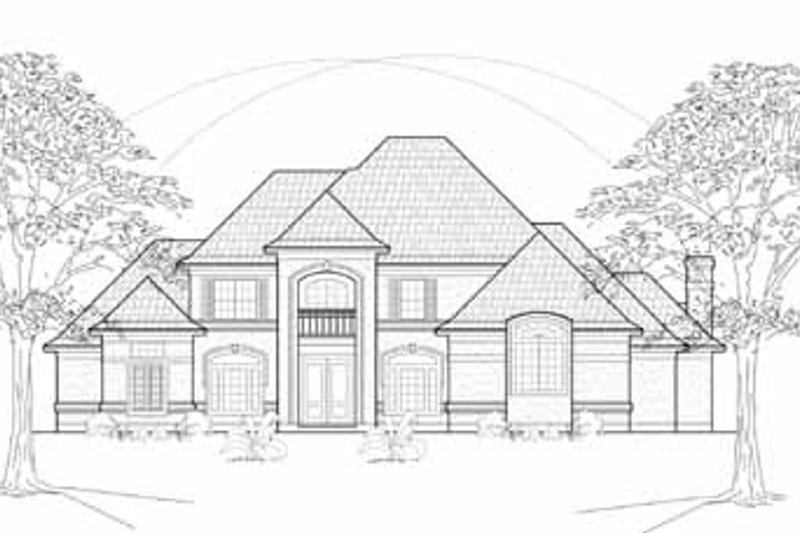 Traditional Exterior - Front Elevation Plan #61-282 - Houseplans.com