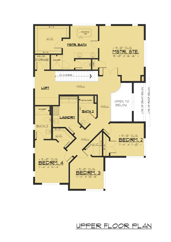Dream House Plan - Traditional Floor Plan - Upper Floor Plan #1066-95
