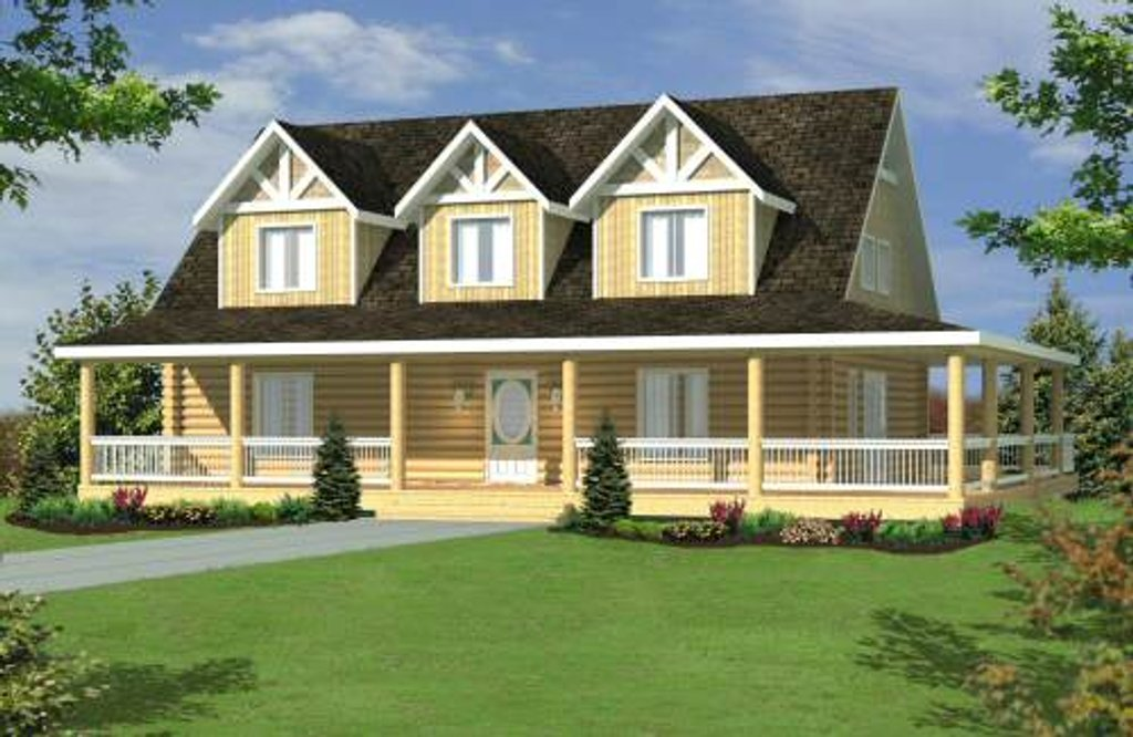Log Style House Plan 4 Beds 3 Baths 4496 Sq Ft Plan 117