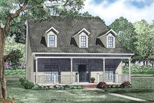 Home Plan Design - Traditional Exterior - Front Elevation Plan #17-2423