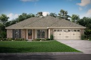 European Style House Plan - 3 Beds 2 Baths 1300 Sq/Ft Plan #430-58 Exterior - Other Elevation
