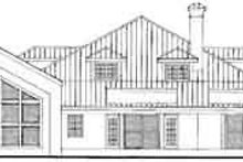 House Plan Design - Modern Exterior - Rear Elevation Plan #72-190